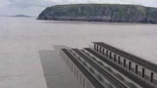 Artist's impression of one Severn barrage model