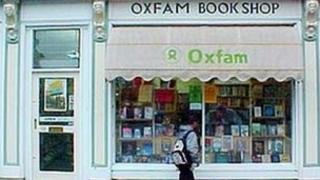 Oxfam bookshop in Oxford