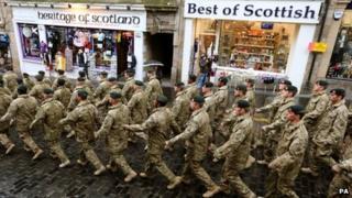 3rd Battalion The Rifles march through Edinburgh