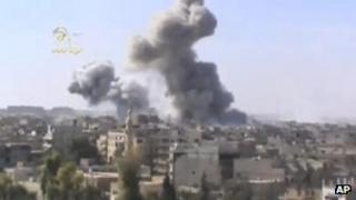 Bombing in Deir Ezzor city, 29 Oct