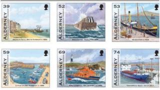Alderney Harbour stamps