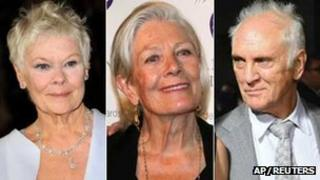 Dame Judi Dench, Vanessa Redgrave and Terence Stamp