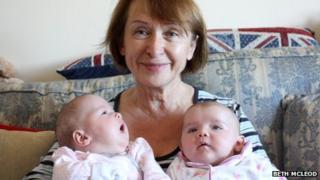 Nadya and her twin grandchildren