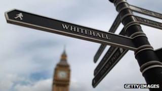 Signpost to Whitehall