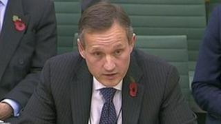 Antony Jenkins giving testimony to the banking standards committee