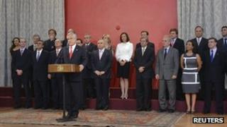 President Pinera announces changes to his cabinet