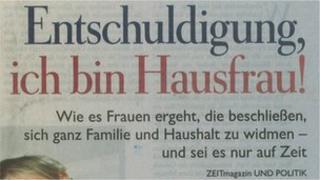 Front page of German newspaper Die Zeit