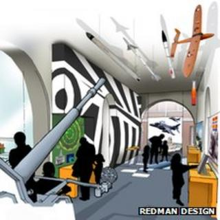 Artist's impression of new exhibition space