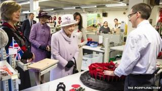 The Queen speaks to Brian Edwards
