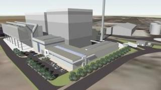 Artist impression of the Hull biomass plant