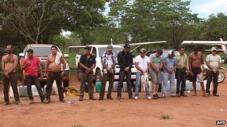 Some of the alleged drug dealers arrested in Paraguay
