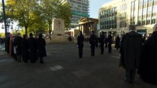 Remembrance Day service in Bristol