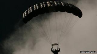 Man in parachute