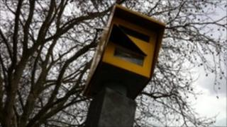 Speed camera on Hotwells Road in Bristol