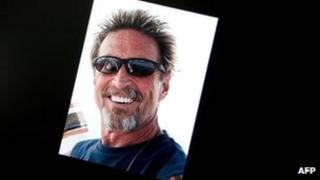 Facebook page belonging to John McAfee