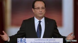President Francois Hollande, news conference 13/11/12