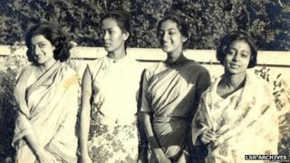 Suu Kyi with her friends