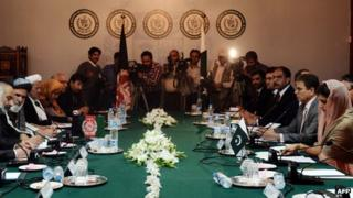 Meeting between the Pakistani government and the Afghan High Peace Council in Islamabad on 12 November