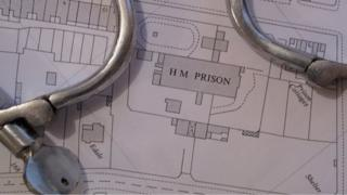 Map of Isle of Man prison on Victoria Road