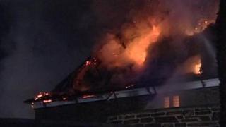 Blaze at Sydenham House