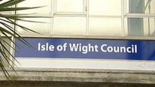 Isle of Wight Council sign