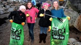 Ramsey Guides on the beach