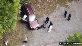 Aerial picture of the murder scene