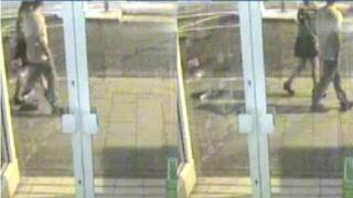 CCTV of woman and man