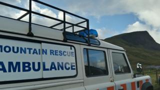 Mountain rescue ambulance