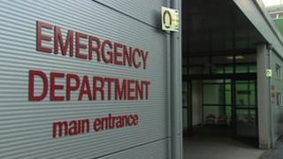 Royal Victoria Hospital A&E sign