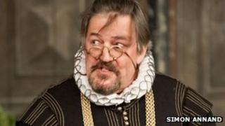 Stephen Fry as Malvolio in Twelfth Night at Shakespeare's Globe