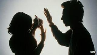 Domestic violence - posed image