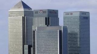 Bank headquarters in Canary Wharf, London