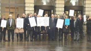 Protest at Edinburgh Sheriff Court