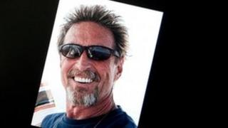 Image from Facebook page of John McAfee