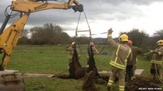 Wesley winched to safety