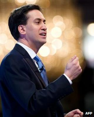 Ed Miliband speaking at the 2012 CBI annual conference
