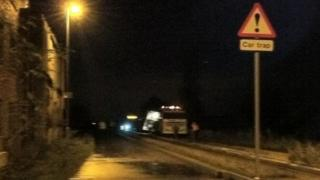 Guided bus come off tracks in Cambridgeshire