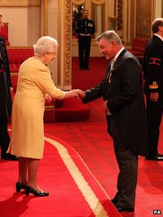 Darren Clarke was awarded the honour for services to sport