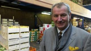Potato-seller Derek Leonard
