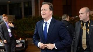 David Cameron arriving ahead of the EU summit