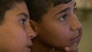 Iraqi orphans brothers Mustafa and Mortada