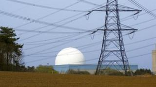 Sizewell B nuclear power station in Suffolk
