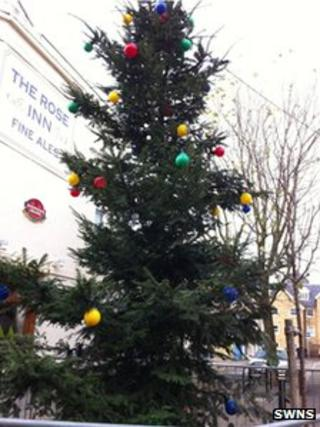 Christmas tree in Herne Bay