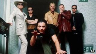 INXS (Michael Hutchence in foreground)