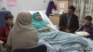Malala Yousafzai and her family