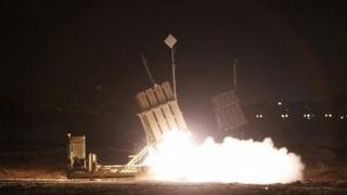 Iron Dome defence missiles