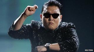 South Korean rapper Psy performs Gangnam Style at the 40th American Music Awards in Los Angeles, US, in this file photo from 18 November 2012