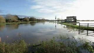 Flooding in Langport