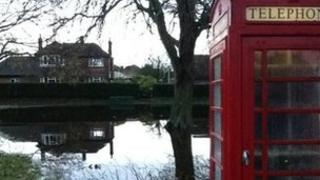 Flooding in Sturminster Marshall